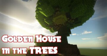 Golden House in the TREES Minecraft Map & Project