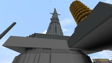communication tower partial underground Minecraft Map & Project