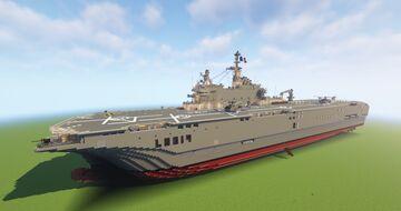 Mistral Class Ampibious Assault Ship/LHD Minecraft Map & Project