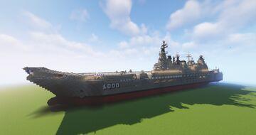 Leonidas Class Aircraft Carrier (Fictional)(updated) Minecraft Map & Project