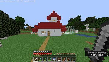Survival Base Mushroom House Minecraft Map & Project