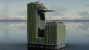 One Central Park, Sydney 1:1 Recreation Minecraft Map & Project