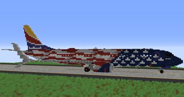 Southwest Airlines Freedom One Livery - 3:1 Scale Minecraft Map & Project