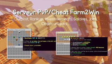 Serveur Minecraft Faction PvP/Cheat Farm2Win Préconfiguré (2021) - Premade Minecraft Faction Cheat Farm2Win (2021) Minecraft Map & Project