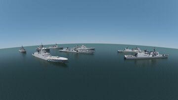 Destroyer DD class z141, Frigate x class p1421, Destroyer Class W304 (Remake) Minecraft Map & Project