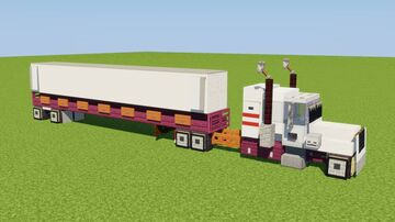 1:1 US Semi-Trailer Truck Minecraft Map & Project