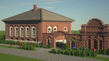 Далматово, улица Советская, 47. / Dalmatovo, Sovet street, 47. Minecraft Map & Project