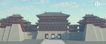 應天門 Gate of Complying with Heavenly Mandate (Chinese architectures 07) Minecraft Map & Project