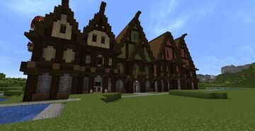 Large Medieval Row Houses Minecraft Map & Project