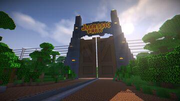 Jurassic Park Main Gates Minecraft Map & Project