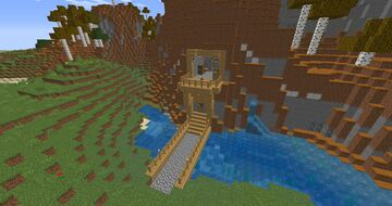 Nice mountain house Minecraft Map & Project