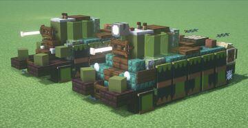 BT-7 (Mod.1935) & BT-5 (Mod.1933) (1.5:1 Scale) Minecraft Map & Project