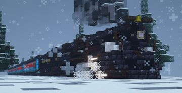 """1.5:1 Scale Pere Marquette N-1 Class Berkshire #1225 """"Polar Express"""" Minecraft Map & Project"""