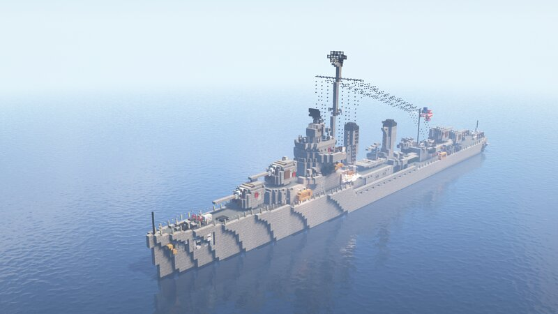 USS Gleaves Destroyer 1.5:1 Scale + Map Download