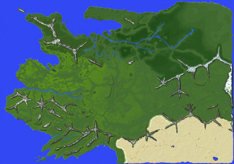 Calradia vegetation and settlements map