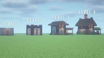 Upgrading a Minecraft Starter House Minecraft Map & Project
