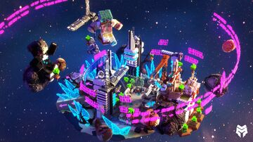 Galaxy Themed Hub Minecraft Map & Project