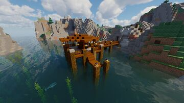 Medieval Fishing Dock Minecraft Map & Project