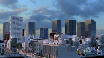 """【Download Map】Japanese current city  """"Nizu City"""" Ver.0.1 Minecraft Map & Project"""