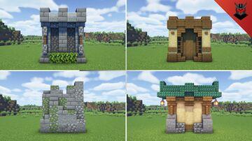 Minecraft Wall Designs! Minecraft Map & Project