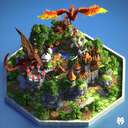 SkyBlock Spawn + Warzone Minecraft Map & Project