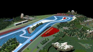 F1 Paul Ricard, Le Castellet, France 1:1 scale Ice boat racing track Minecraft Map & Project
