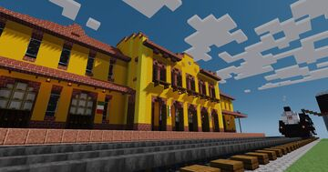 Train Station of Aguascalientes, Mexico Minecraft Map & Project