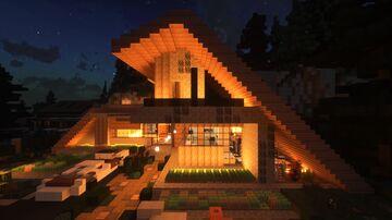 MODERN Mini-Farmhouse   updated Minecraft Map & Project