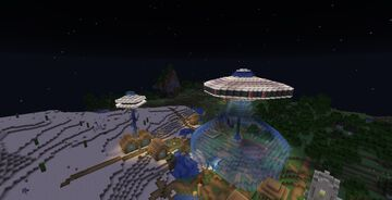 Giant UFO Minecraft Map & Project