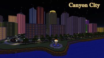 Canyon City at night Minecraft Map & Project