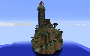 giant lighthouse on island - schematic download Minecraft Map & Project
