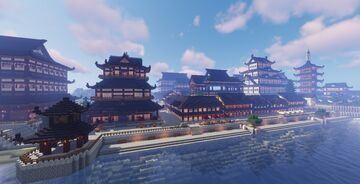 Coast Japanese Town Minecraft Map & Project