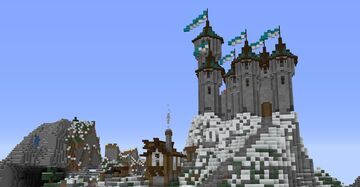 Medieval fantasy castle Minecraft Map & Project