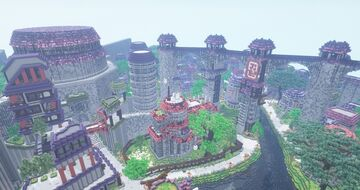 ShippudenWorld | Kirigakure no Sato | NarutoCraft Minecraft Map & Project
