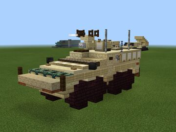 Boxer Armoured Fighting Vehicle 1.5:1 Minecraft Map & Project