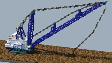 Bucyrus Erie 1570w, Walking Dragline [With Download] Minecraft Map & Project