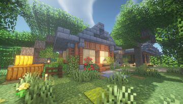 Small Japanese Home Build Idea Minecraft Map & Project