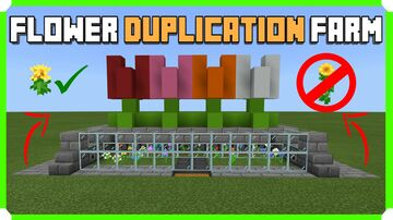 How To Build A Flower Duplication Farm Minecraft Map & Project