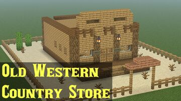 Old Western Country Store Minecraft Map & Project