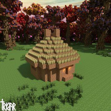 Dirt Hut +tutorial Minecraft Map & Project