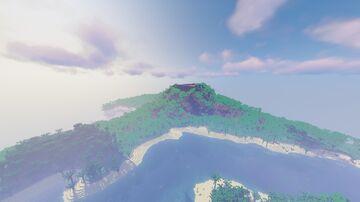"1,024/1,024 huge tropical island | took me 3 hours to make | name: ""isla gata"" translated to cat island. Minecraft Map & Project"