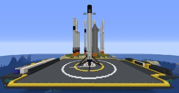 All SpaceX Rockets (1.16.5 Java Edition) Minecraft Map & Project