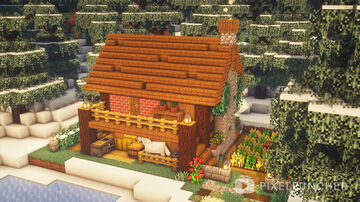 Snowy Cabin Minecraft Map & Project