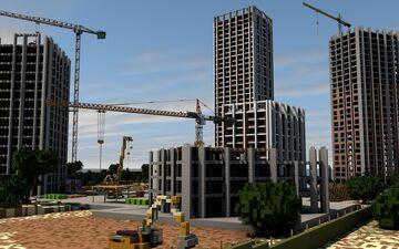 "RP Construction site ""Appartment complex SLAVUTYCH (REAL) | РП Строительная площадка ЖК ""Славутич"" (реал.) Minecraft Map & Project"