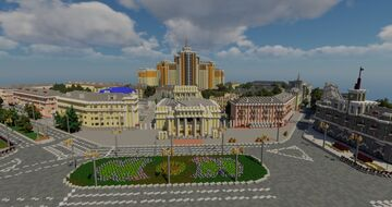 Barnaul 1 to 1 scale - Барнаул в масштабе 1 к 1 (TeamCIS | СНГ - Build the Earth) Minecraft Map & Project