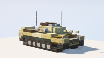 Cruiser Mk.VI Crusader tank - 1.5:1 scale Minecraft Map & Project