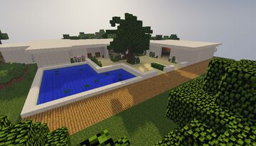 Casa moderna minimalista /  Minimalist modern house Minecraft Map & Project