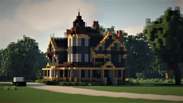Graywood Victorian Mansion [Full Interior and Landscape] - New England, 1947 Minecraft Map & Project