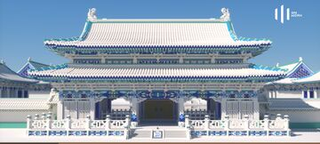 """""""Palace of Blue and White"""" —— Elegant and innovative Chinese style architecture design (Preview) Minecraft Map & Project"""