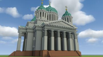Russian Orthodox Cathedral Minecraft Map & Project